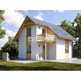 Проект будинку під ключ ГБ-193 6x7 м 51,5 м2