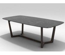 Стол кухонный 200Х90 натуральный камень + металл