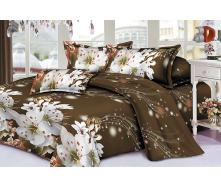 Комплект постельного белья Restline 100 Вишневый цвет 3D Полуторный микросатин 150х215 см