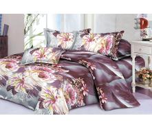 Комплект постельного белья Restline 116 Жоржины 3D Полуторный микросатин 150х215 см