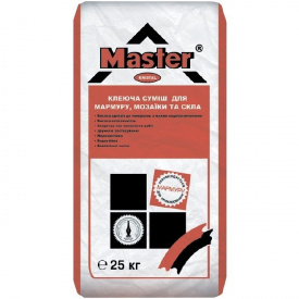 Клей для мрамора, декоративного камня, стеклянных плиток Мастер Кристал Master Kristal 25 кг