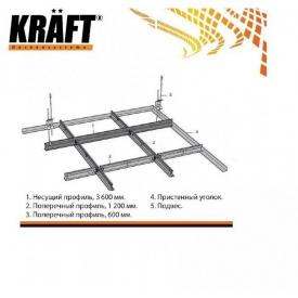 Профіль Kraft Nova поперечний T-24 1200x25x24 мм білий