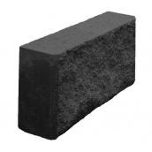 Блок декоративный колотый заборный 90х190х390 мм черный