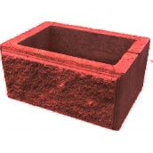 Блок декоративний стовпчиковий 300х400 мм червоний
