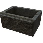 Блок декоративний стовпчиковий 300х400 мм чорний
