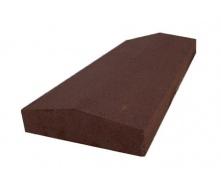 Парапет пресований вузький 500х180х50 мм коричневий