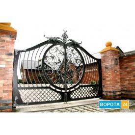 Откатные кованые ворота 5500х2000 мм