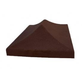 Крышка на столб Китайка 340х440 мм коричневый