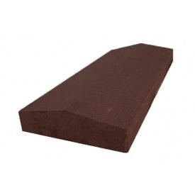 Парапет прессованный узкий 500х180х50 мм коричневый