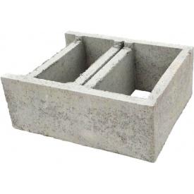 Блок фундаментный несъемной опалубки двойной 400х500х200 мм серый