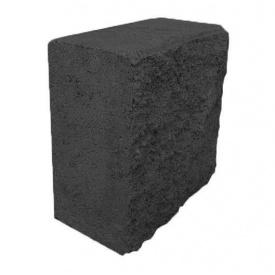 Блок декоративный половинка 90х190х190 мм черный