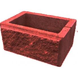 Блок декоративный столбовой 300х400 мм красный