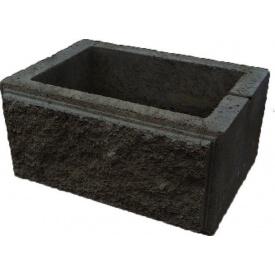 Блок декоративный столбовой 300х400 мм черный