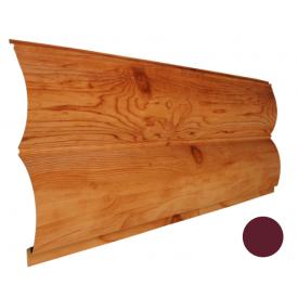 Блок-хаус металлический Никобуд Бревно 0,4х361х6000 мм красное вино (RAL 3005)