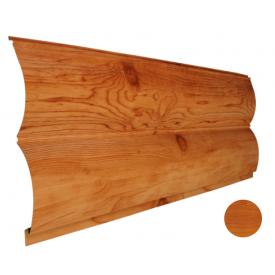 Блок-хаус металлический Никобуд Бревно 0,4х361х6000 мм золотой дуб (ОМО 04)