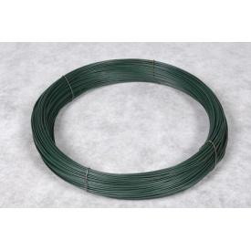 Проволока ПВХ 2,0 мм 100 пог. м зеленая