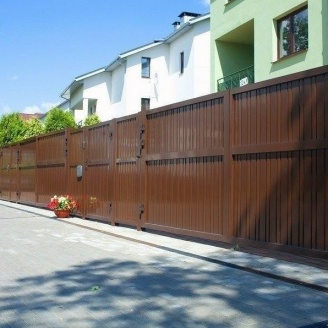 Распашные ворота Alutech Elegant экструдированный алюминиевый профиль