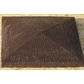 Плита на столбы Декамир гладкая 450x450x55 мм коричневая