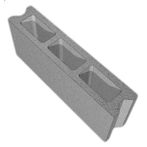 Перегородочный бетонный блок Новоблок 500х100х190 мм