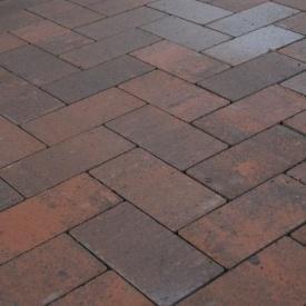 Тротуарна плитка Золотий Мандарин Цегла без фаски 200х100х60 мм Сієна