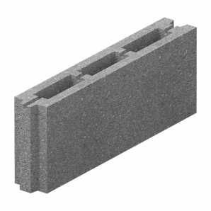 Блок простеночный бетонный Золотой Мандарин М-75 50.8.20 500х80х190 мм