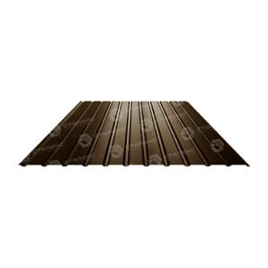 Профнастил Сталекс ПС-12 1185/1155 мм 0,4 мм PE (Китай) (RAL8017/шоколадний)