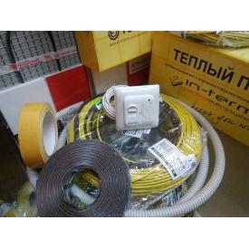 Теплый пол электрический IN-THERM тонкий 9 м2 с термостатом