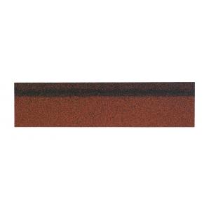 Гребенево-карнизна черепиця Shinglas 250х1000 мм червоний мікс