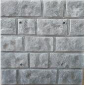 Фасадная термопанель Луганский камень 500x500 мм серая