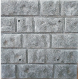 Фасадна термопанель Луганський камінь 500x500 мм сіра