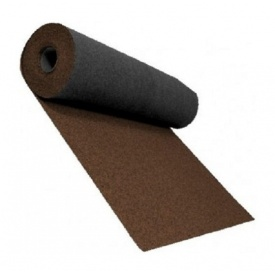 Розжолобковий килим Shinglas 3,4 мм 1х10 м коричневий