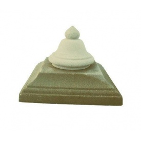 Крышка на столб Звон 450х450 мм желтая