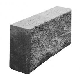 Блок декоративный колотый заборный 390х90х190 мм серый