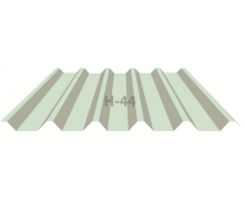 Профнастил Индастри ПК 44 цинк 1100 мм 0,45х1250 мм RAL 9003