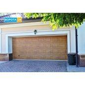 Ворота автоматичні гаражні Алютех Тренд 2750x2200 мм золотий дуб
