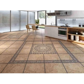 Облицювання підлоги плиткою ускладненої форми