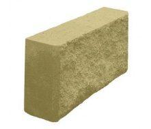 Блок декоративный рваный камень для забора 390х90х190 мм желтый