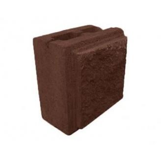Напівблок декоративний рваний камінь 190х190х90 мм коричневий