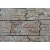 Фасадная плитка рифленая 380х200х25 мм янтарь
