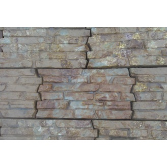 Фасадная плитка рифленая 380x200x25 мм янтарь