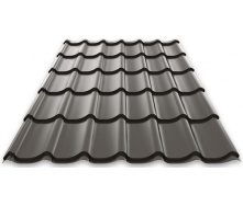 Металочерепиця Ruukki Monterrey Polyester Matt 0,45 мм темно-коричневий