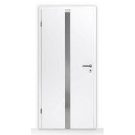 Внутренние деревянные двери с остеклением Hormann DesignLine Pure Duradecor 735х1985 мм белый лак