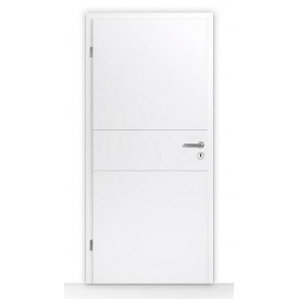Внутрішні дерев'яні двері Hormann DesignLine Groove 29 735х1985 мм лак білий