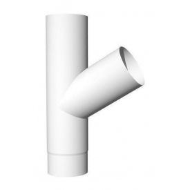 Трійник Ruukki 70 градусів до 90 мм білий