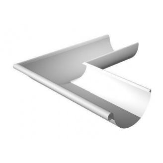 Кут ринви зовнішній Ruukki 90 градусів 150 мм білий