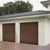 Ворота гаражные секционные Hormann RenoMatic 3000х2500 мм sandgrain RAL 8028 коричневый