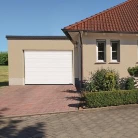 Ворота гаражные секционные Hormann RenoMatic 3000x2125 мм sandgrain RAL 9016 белый