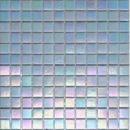 Мозаика стеклянная на бумаге Eco-mosaic перламутр 20IR15 327х327 мм