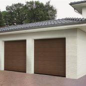 Ворота гаражные секционные Hormann RenoMatic 2750x2500 мм sandgrain RAL 8028 коричневый