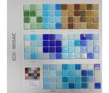 Мозаика стеклянная на бумаге Eco-mosaic МИКС 20x20 мм